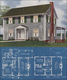 1921 Colonial Revival - American Homes Beautiful - Charles Lane Bowes, Publisher