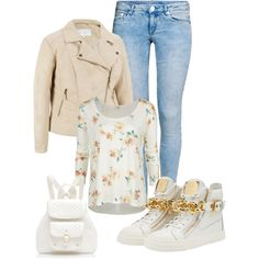 casual spring by ria-kostopoulou on Polyvore featuring O'Neill, H&M, Giuseppe Zanotti and Forever New