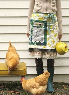 When I was young, Mom raised chickens for eggs and for eating. She even chopped their heads off and butchered them herself. It used to gross me out!