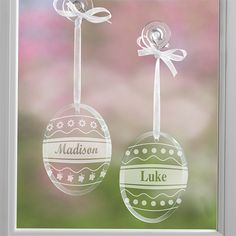 Personalized Easter egg suncatchers