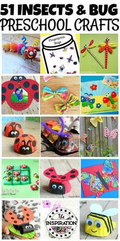 51 Insects And Bug Crafts For Preschoolers · The Inspiration Edit