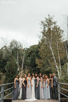 White & Grey Organic Wedding Inspiration is part of Mismatched grey bridesmaid dresses - Dani and Jordan's organic wedding captured by Ever After Photographers was nothing short of magical Charcoal Grey Bridesmaid Dresses, Grey Bridesmaids, Mismatched Bridesmaid Dresses, Wedding Bridesmaid Dresses, Wedding Gowns, Wedding Ceremony, Perfect Wedding Dress, Wedding Inspiration, Neutral Dress
