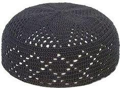 Black Knit Kufi Skull Cap