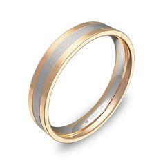 Alianza de boda en oro bicolor 18k. Una de las preciosas alianzas originales de la colección  ARGYOR1954 Bangles, Bracelets, Wedding Rings, Gold, Beautiful, Jewelry, Wedding Ideas, Bride, Nails
