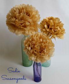 Pretty Pattern Peonies: Sewing Pattern Paper Flowers DIY