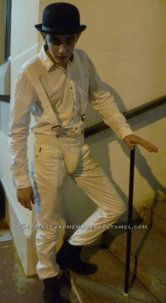 Homemade Droog Costume from A Clockwork Orange... This website is the Pinterest of costumes