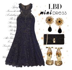 """Little Black Mini Dress"" by conch-lady ❤ liked on Polyvore featuring Notte by Marchesa, Dolce&Gabbana, LittleBlackDress, LBD and minidress"