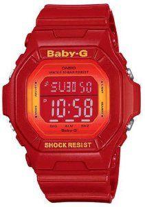 Red Baby-G Shock Digital Resin Strap, (calendar, casio, g-shock, men, red, casio baby-g, water-resistant, baby gshock, watches)