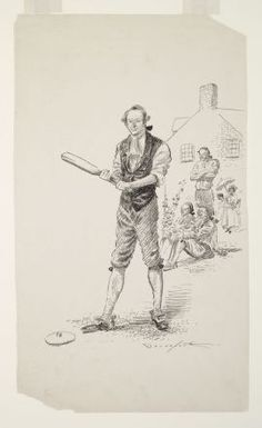 Drawing of the New York Knickerbockers baseball team during a practice session by Homer Davenport [Public domain]