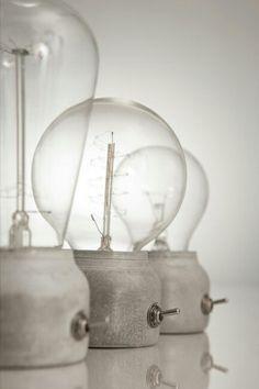 水泥座 工業感燈泡