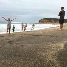 Kids getting their feet wet at the famous Bells Beach Australia. Home of the world's longest-running surfing competition  the Rip Curl Pro Surf & Music Festival.  #beach #water #ocean #fun #pretty #sand #amazing #beauty #beautiful #shore #waterfoam #seashore #waves #wave #familyholiday #family #blendedfamily #kidstravel #pointbreak #bellsbeach #melbourne #australia #vacation #tourist #visitvic #holiday by what.else.can.we.do http://ift.tt/1KnoFsa