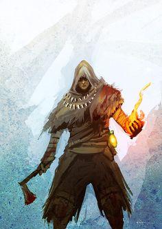 Dark Souls - Pyromancer by *Nine-Bullet-Revolver on deviantART