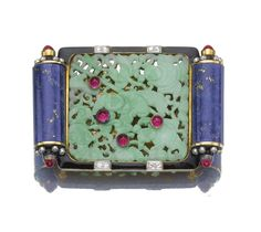 Attractive gem-set buckle/ brooch, Cartier, 1928 - Sotheby's