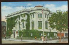 012608 FOLKS @ LIBRARY ATLANTIC CITY NJ NEW JERSEY POSTCARD