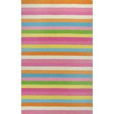 Shari Chic Pink Stripes Area Rug