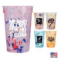 Promotional 17 oz. Confetti Stadium Cup $0.75/each #drinkware #advertising #summer | Customized Stadium Cups | Promotional Stadium Cups