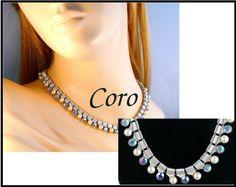 Designer CORO Blue Aurora Borealis AB by MarlosMarvelousFinds
