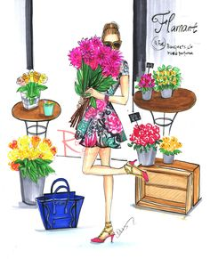 Spring Fashion illustrationFashion wall by RongrongIllustration