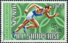 Stamp%3A%20%E2%80%ADOlympic%20Rings%20and%20Running%20(Albania)%20(Summer%20Olympics%201972%2C%20Munich%20(I))%20Mi%3AAL%201499%2CSn%3AAL%201374%2CYt%3AAL%201317%20%23colnect%20%23collection%20%23stamps