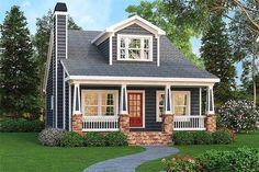 Craftsman Bungalow With Optional Bonus - 75499GB thumb - 01