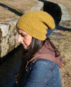 Supah Slouch Hat Pattern #knitting