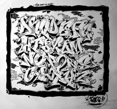 Love This Graffiti Alphabet Its So Sick: