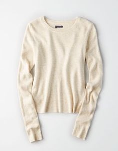 AEO Ribbed Tulip-Back Sweater by  American Eagle Outfitters   Sweater weather forever.Sweater weather forever. Shop the AEO Ribbed Tulip-Back Sweater and check out more at AE.com.