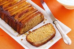 Banana caramel cake  It's time to turn the tables with this upside-down banana cake.  FULL RECIPES: http://bit.ly/2vSidFl