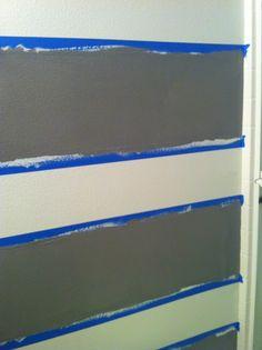Painting horizontal stripes