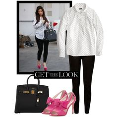 Get Kim's Look by dauchka22 on Polyvore featuring polyvore, fashion, style, J.Crew, Kate Spade, Hermès, women's clothing, women's fashion, women and female