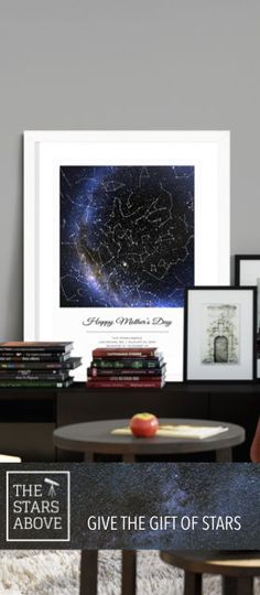 Unique beautiful custom star map, great gift for any occasion, Capture the night sky above that special moment Unique Housewarming Gifts, Personalised Gifts Unique, Personalized Anniversary Gifts, Unique Mothers Day Gifts, Housewarming Party, Customized Gifts, Custom Gifts, Valentines Day Pictures, Valentines Day For Him