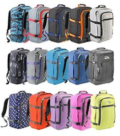 Designed to fit the maximum size allowed on an IATA flight 55x40x20cm - Now Water resistant 600D material! This massive 44 litre capacity makes it possible to fly without checking in baggage to the hold Lightweight 660 grammes, High strength composite shower proof nylon bag with ergonomic padded back. Adjustable shoulder straps, carrying handles, and side adjustable straps.