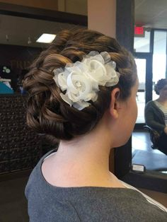 Bridal hair, wedding updo, formal style- Hair by Linda Bang