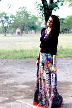 e0039d1806b Long HIPPIE SKIRT - Bohemian PENCIL skirt - Maxi skirt