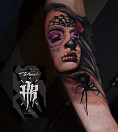 Muertos tattoo spidertattoo colourtattoo