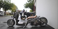 Honda Ruckus, Garage, Motorcycle, Gallery, Vehicles, Mini, Drive Way, Roof Rack, Biking