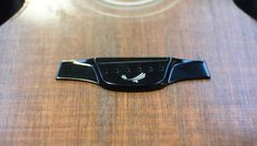 Latest El Capitan bridge just before glue-up. Check out the Blackbird inlay! Nice CNC machining Paul J. and polishing Brian B.- not bad for our second El Capitan style bridge! There is magic going on in the workshop this week!...done with SuperSap prepregs...