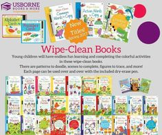 Wipe Clean Books Great activities for kids