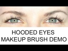What Are Hooded Eyes Makeup Brush Demo - Video for Hooded Eyes from #Phyrra. This is the video included in the post I just pinned-it's a great demonstration on which brushes to use for base, transitional and crease shades, the techniques to apply shadow to those areas, proper blending technique and color placement. There is a full list of all the prods/brushes she uses in the post. Great post for beginners too!