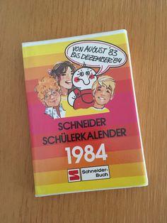 Schneider Schülerkalender von 1983 / 1984