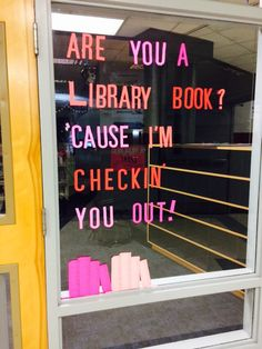 Found at a middle school in my district. Perfect for a Valentine's library display