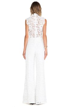 Alexis Aruba Lace Jumpsuit in Ivory
