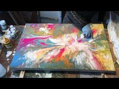 How I Paint This Abstract Art - YouTube