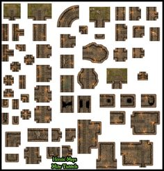 Heroic Maps - Modular Kit: Mine Tunnels - Heroic Maps | Caverns & Tunnels | Dungeons | Wilderness | Modular Kits | DriveThruRPG.com