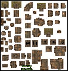 Heroic Maps - Modular Kit: Mine Tunnels - Heroic Maps | Caverns & Tunnels | Dungeons | Wilderness | Modular Kits | DriveThruRPG.com