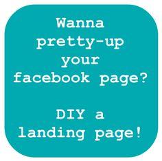 create a facebook landing page