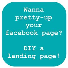 create a facebook landing page