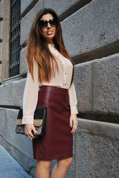 Кожаная юбка (197 фото) 2016: модные фасоны, мини, миди, длинная, с чем одевать