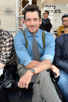 Model David Gandy attends the St James's show during London Fashion Week Men's June 2017 collections on June 10 2017 in London England
