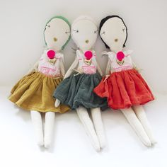 JESS BROWN RAG DOLL - TEA DYED COTTON MUSLiN WiTH CHATEAU DRESS+ GAUZE TUTU